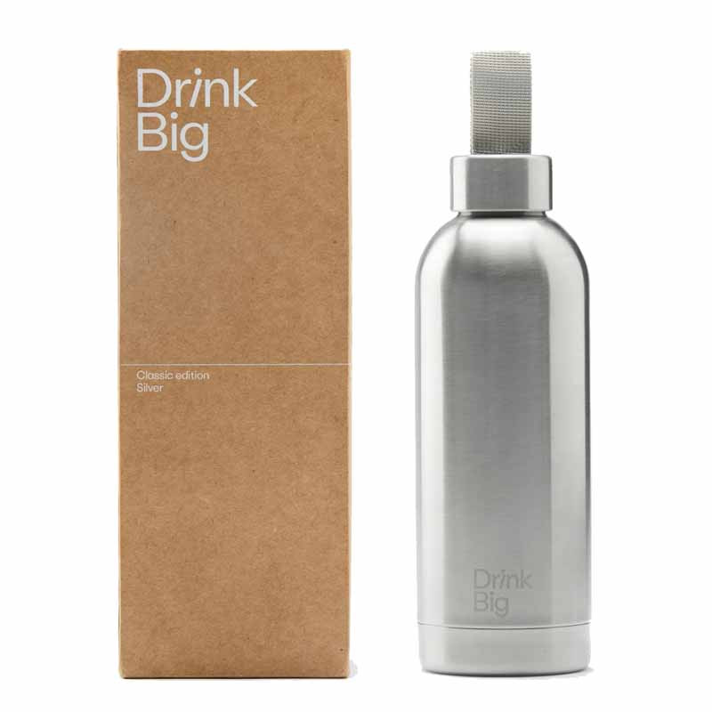 Drink Big  Bouteille Classic Silver