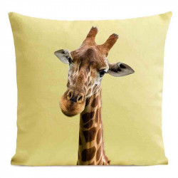 Coussin Girafe Yellow Velours | ART PILO